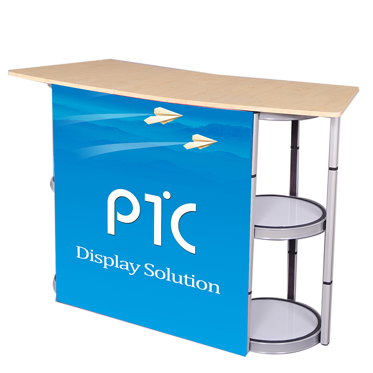 Portable aluminum twist tower display table(PTC-SC-FD-5)